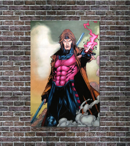 Gambit X Men Marvel Comics Art Oil Painting Hand-Painted NOT a Print Poster