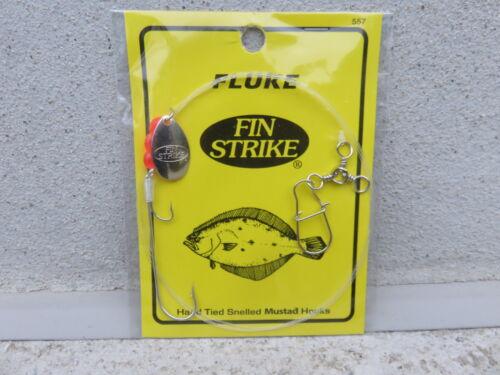1 Fin Strike Fluke 4//0 Mustad Long Shank PINK.Bktail Sp Rig #558P DISCOUNTS-READ