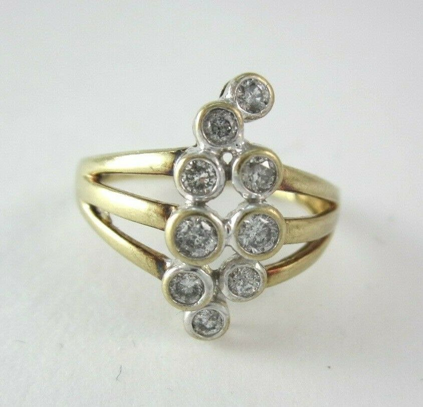 BEAUTIFUL LADIES 10K YELLOW gold DIAMOND RING .255CT, 3.2G