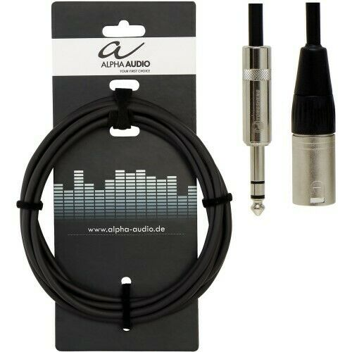 Alpha Audio 6,3 Klinke Stereo auf XLR male  6m SymmetrischNeu