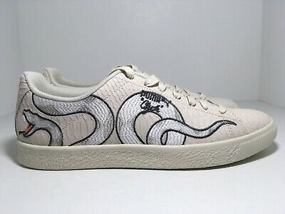 Puma Clyde Snake Embroidery Pack Whipser White 368111 01 Men's Shoes Size 10.5 192339067738 | eBay