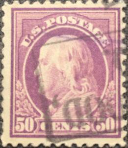 Scott-517-US-1917-50c-Franklin-Postage-Stamp-XF