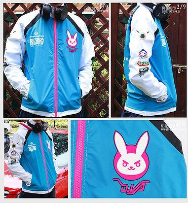 Cosplay  Unisex Sport Sweater Hoodie Overwatch D.VA Hooded Sweatshirt Jackets