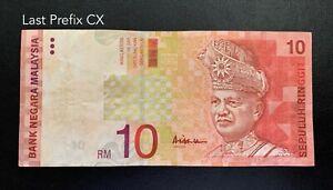 Malaysia-11th-RM10-Last-Prefix-CX-GVF-Stain