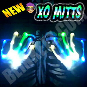 NEW-BLUE-WHITE-GREEN-XBone-L-E-D-Gloves-Rave-Burning-Man-Light-Gloves
