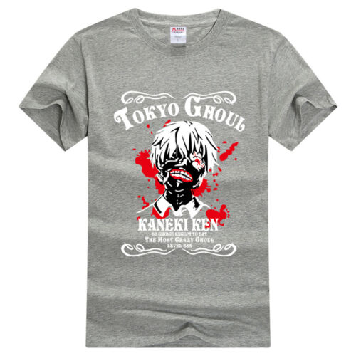 Anime Cotton T-Shirt Tokyo Ghoul Short Sleeve Casual Clothing Woman Man Top Tee