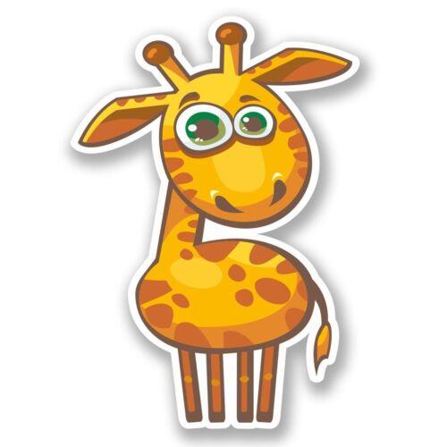 2 x Funny Giraffe Vinyl Sticker Laptop Travel Luggage Car #5661