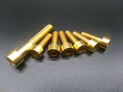 6pcs M5x16 /& 1pcs M6x35mm Titanium Ti Allen Hex Socket Cap Head Bolts Screw Gold