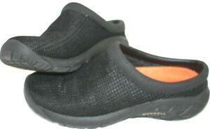 Merrell-Womens-Size-8-5-Black-Slip-On-Walking-Mules-Clogs-Slide-Sandals-Shoes