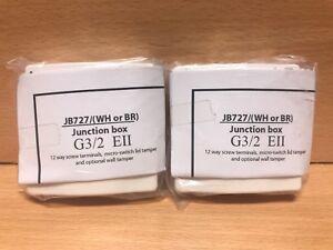 x2-CQR-JB727-WH-Intruder-Alarm-Junction-Box-10-Way-Plus-2-Tamper-Grade-3