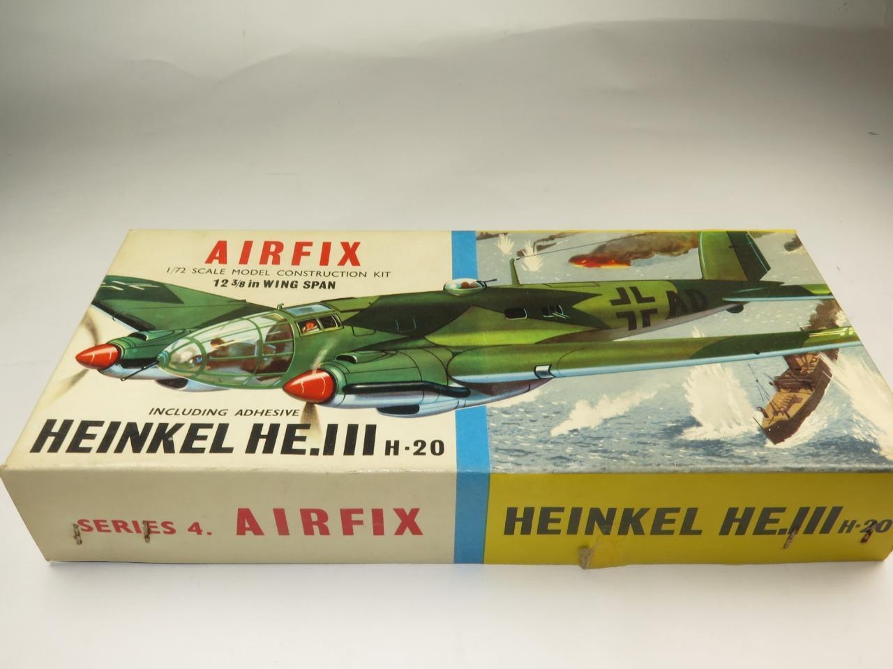 RARE Airfix Model Aircraft Kit 1 72 Heinkel He.111 German WWII Bomber Type 2 Box