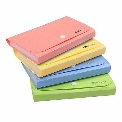 12 Pockets 4 Colors A6 Office Expanding File Folder Holder Organizer Fastener