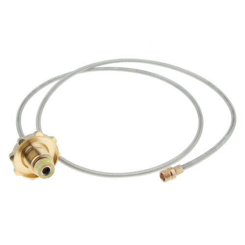 110cm Outdoor Camping Stove Propane Hose Adapter Connector Flat Gas Tank