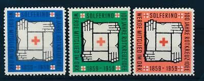 Motive 3 Vignetten 100 Jahre Rotes Kreuz Einen Effekt In Richtung Klare Sicht Erzeugen Briefmarken 583832