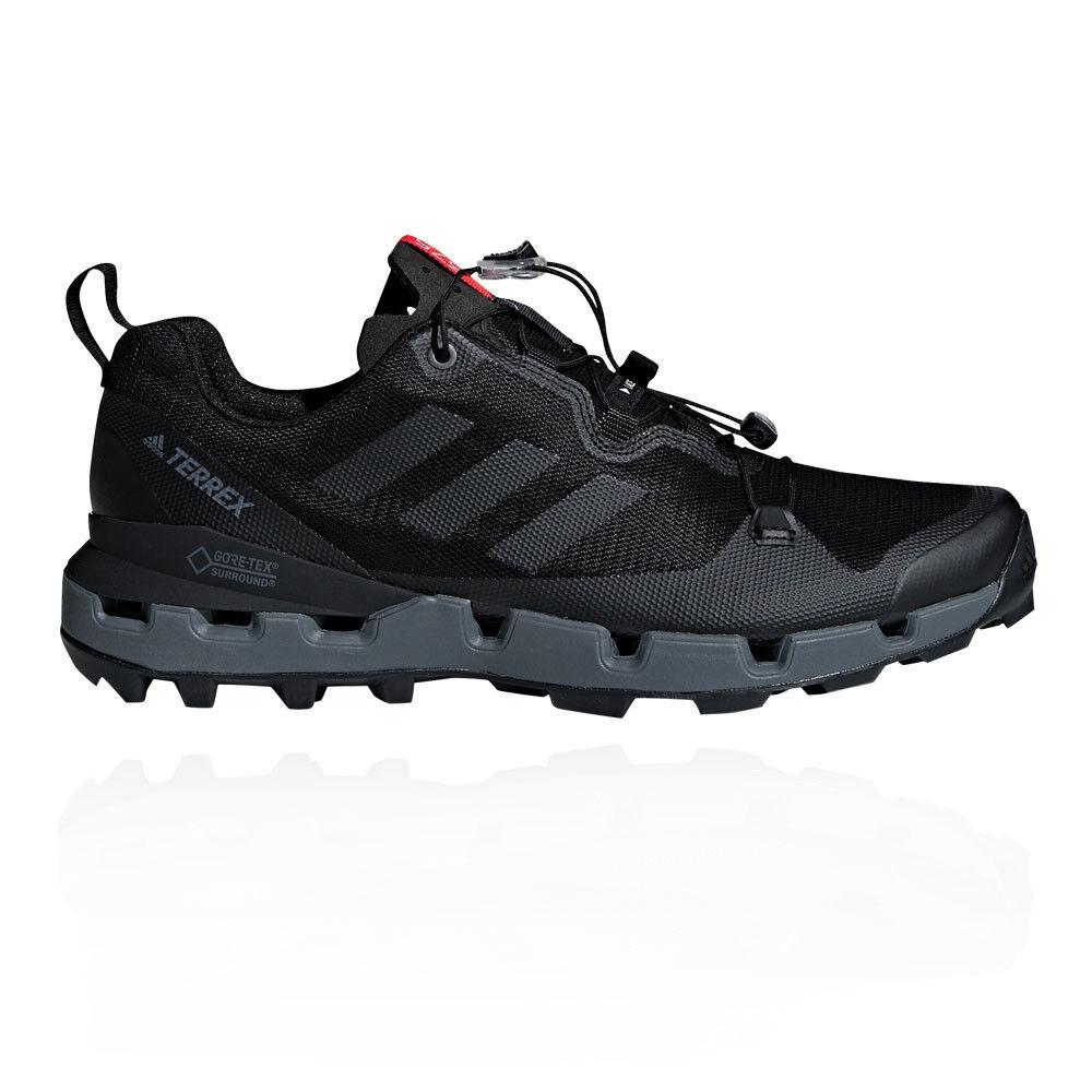 adidas Mens Terrex Fast GORE-TEX Surround Walking Shoes Black Sports Outdoors