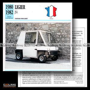 032-09-LIGIER-JS4-Voiturette-Minicar-1980-1982-Fiche-Auto-Car-card