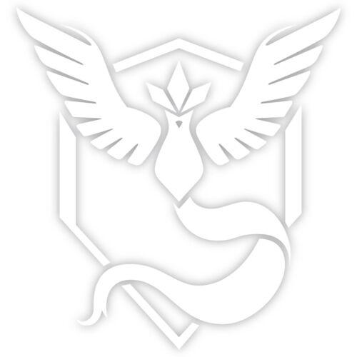 "Pokemon Go Team Mystic Blue Logo 3/"" Decal Sticker pokeball nerdy funny"