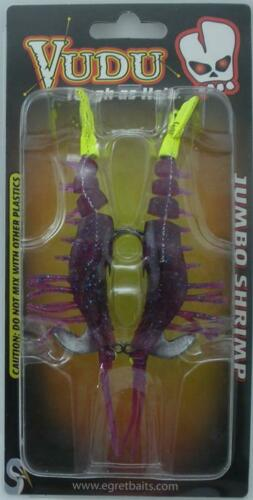 "Egret Baits E-VS40-14-31 4/"" Jumbo Vudu Shrimp LSU 20672"