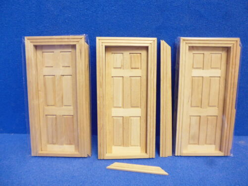 Escala 1//12 Casa De Muñecas puertas Interno Pack de 3 TC6007