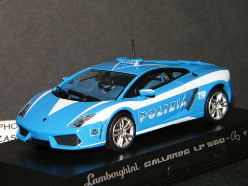 LAMBORGHINI GALLARDO LP560-4 POLIZIA ITALIENNE DE NOREV REF 760028 SCALE 1//43