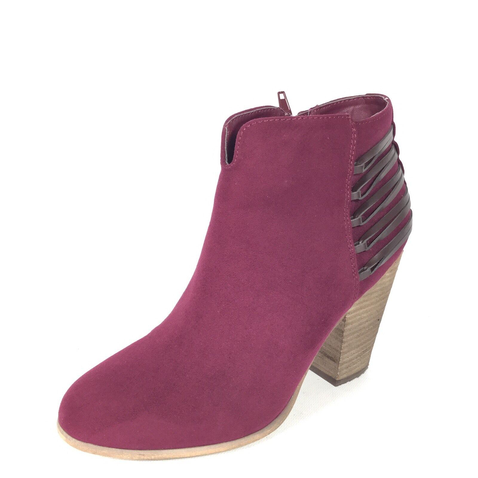 Carlos By Carlos Santana Hawkins Women's Size 7.5 M Burgundy Heel Ankle Boots.