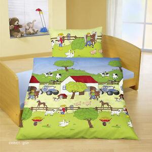 bierbaum baby bettw sche biber flanell bauernhof 40 60 cm 100 135 neu ebay. Black Bedroom Furniture Sets. Home Design Ideas