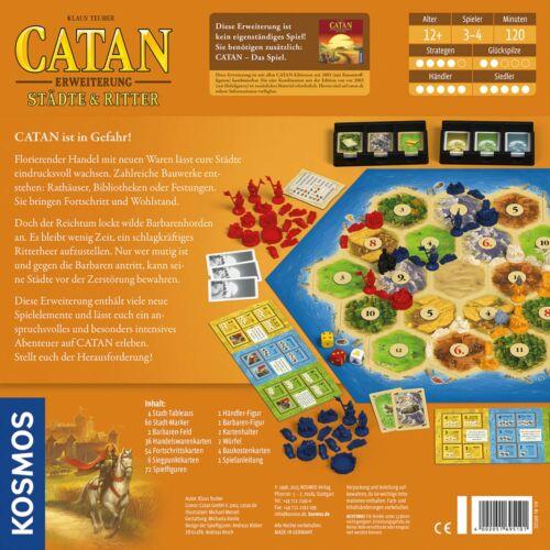 KOSMOS Catan Erweiterung Städte und Ritter Strategie Spiel ab 12 Jahren 695101
