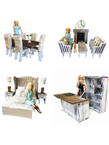 MiniMolly-Dollhouse-1-6-Barbie-Size-BUNDLE-Kitchen-Dining-Bed-Lounge-Furniture