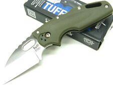 COLD STEEL OD Green TUFF LITE Straight AUS8A Steel Folding Pocket Knife! 20LTG