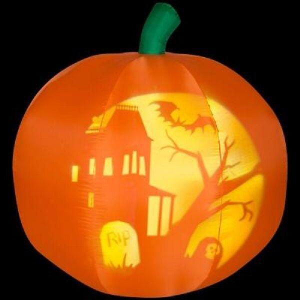 New 5' Panoramic Projection Pumpkin Halloween Airblown Inflatable Yard Decor Decor Decor fd67c8
