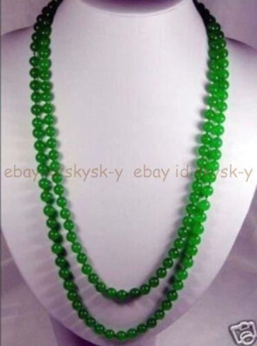 environ 91.44 cm 36 in long 8//10//12mm Vert naturel jade perles rondes Colliers AA