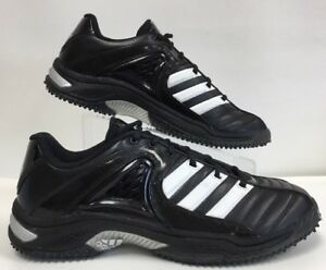 ADIDAS MENS FOOTBALL SNEAKER CLU 600001 BLACK LEATHER SIZE