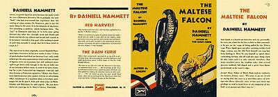 Buchhülle umschlag Für First & Early Bücher Hammett The Maltese Falcon Faksimile Dust