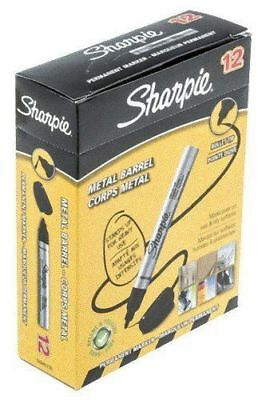 Sharpie Metal Perm Marker Sml Bullet Blk 12 Pack