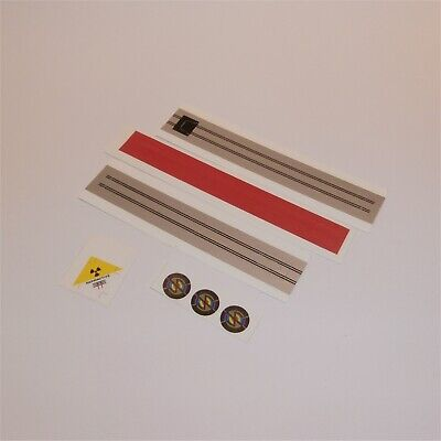 Gerry Anderson Captain Scarlet Repro Dinky MSV 105 Center SILVER STRIP Stickers