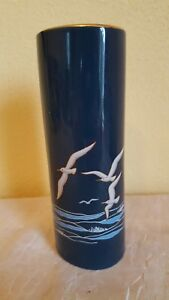 OTAGIRI-JAPAN-Hand-Painted-THE-SEA-VASES-SEAGULLS-WAVES-7-034-tall
