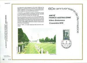 FEUILLET-PHILATELIQUE-SUR-L-039-AMITIE-FRANCO-AUSTRALIENNE-60eme-ANNIVERSAIRE