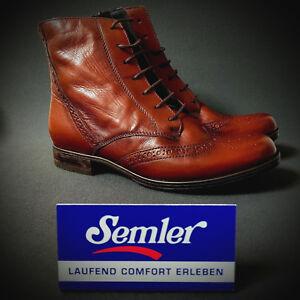Cognac Zu Ankle Stiefel Boots Semler 4 Neu Details Stiefelette 37 Braun Select Damen nX0wk8OP
