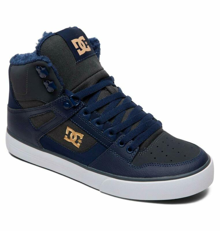Dc Shoes Skate Pure High Top Wc Wnt Navy - Grey Adys400047 Ngh Mens