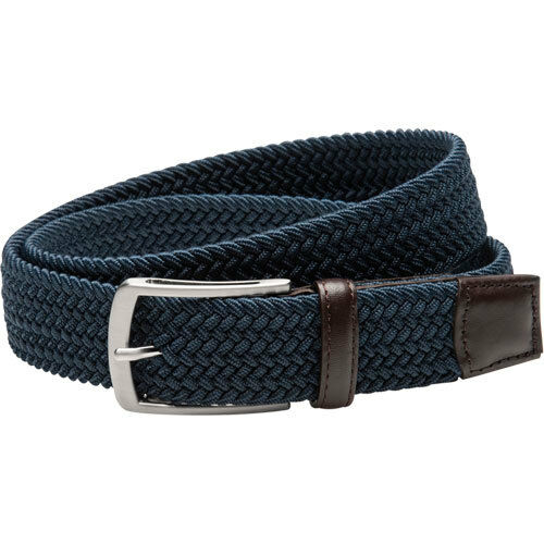 Greg Norman Mens Solid Braided Stretch Belt