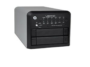 NEW-2-Bay-3-5-034-Vistor-USB-2-0-eSATA-External-Dual-SATA-RAID-HDD-Enclosure