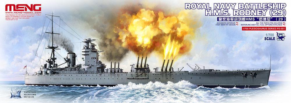 Meng Model PS-001 1 700 Royal Navy Battleship, HMS Rodney