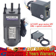 Ac Gear Motor Electric Variable Speed Reduction Controller 135rpm Torque 110
