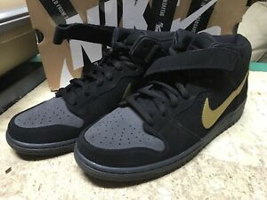 lowest price 7ad73 d9505 Image is loading USED-MENS-NIKE-DUNK-MID-PRO-SB-BLACK-