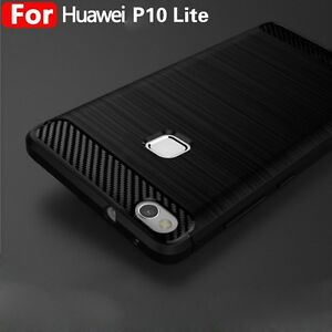 the best attitude dc8a3 98aee Details about For Huawei P10 Lite Plus Shockproof Silicone Hybrid Case Soft  Bumper TPU Cover @