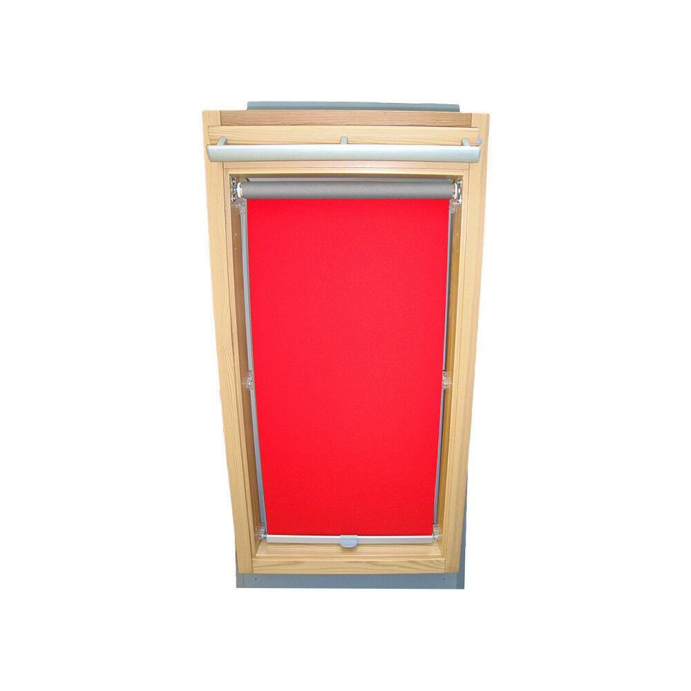 Persiana oscurecer térmicos para braas ventana de tejado ya que ba-rojo