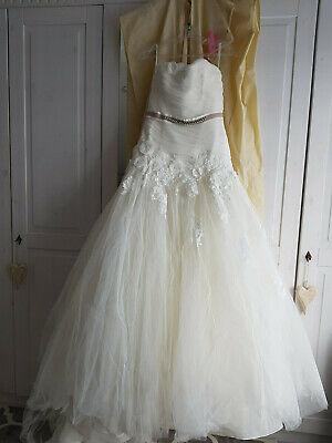Forte Romantico Abito Sposa Shabby Vestito Da Sposa Tg 38/40 Np1490. - Marchio Blue-mostra Il Titolo Originale