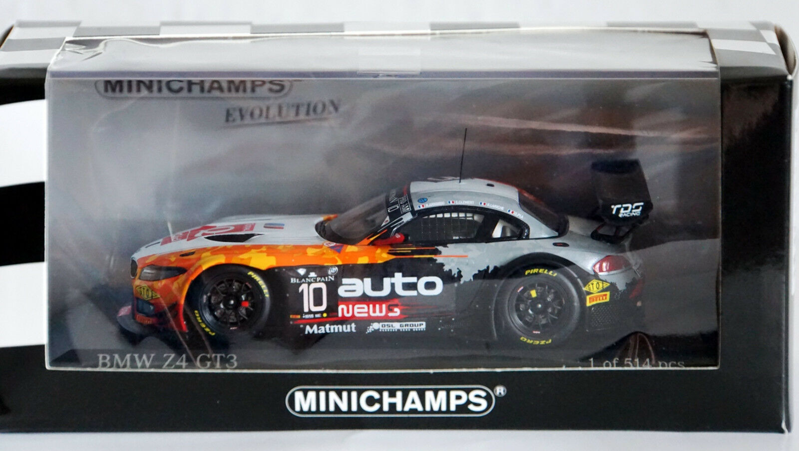BMW Z4 GT3 h Spa 2014 Minichamps 1 43