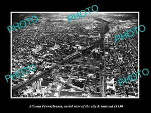 OLD-LARGE-HISTORIC-PHOTO-OF-ALTOONA-PENNSYLVANIA-AERIAL-VIEW-OF-CITY-c1930