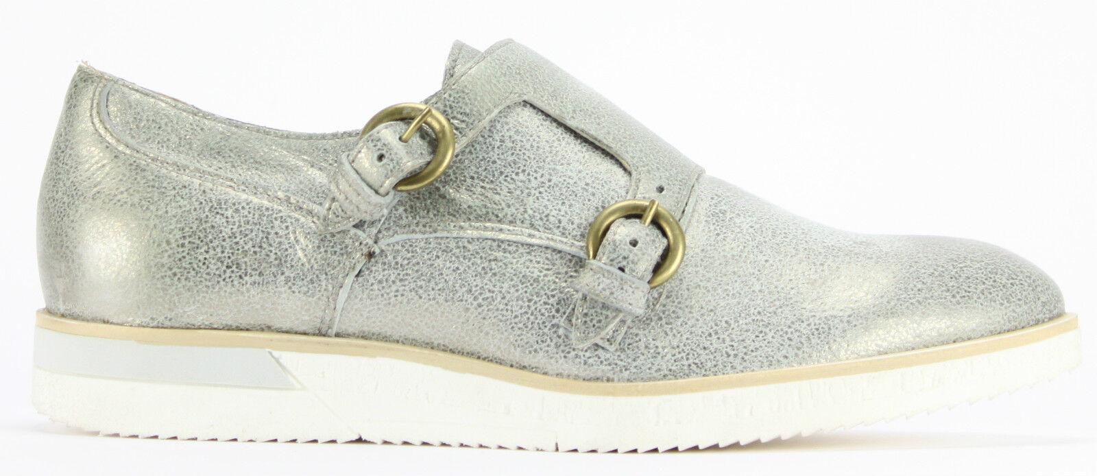 MJUS Schuhe Slipper CROISSBNT 165103 corda silver metallic Echtleder UVP 119,90